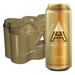 Six Pack Andes Rubia 500 ml