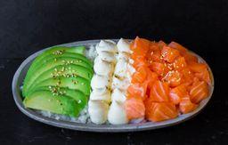 Sushi Salad de Salmón Rosado