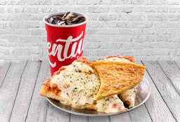 Promo Porrón - 2 Pizzas Mozza + Fainá +  Porrón de Quilmes