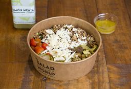 Ensalada Quinoa Griega + Bebida