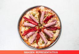 Pizza con Jamón, Cebolla & Morrón