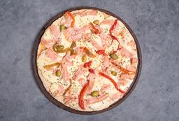 Pizza con Roquefort, Jamón & Morrón