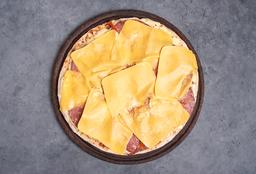 Pizza con Longaniza & Cheddar