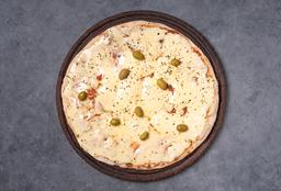 Pizza con Roquefort, Provolone & Gruyere