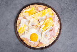 Pizza con Panceta & Huevo