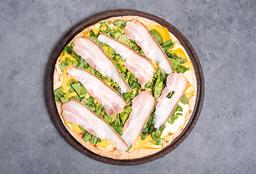 Pizza con Provolone & Panceta