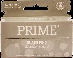 Preservativos Prime Super Fino X12U