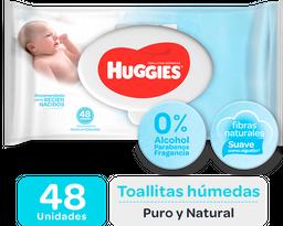 Toallas Húmedas Huggies Puro Y Natural 18X48