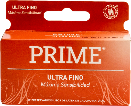 Preservativos Prime Ultra Fino X12u