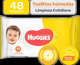 Toallitas Húmedas Huggies Clásico y Cotidiano 48 U