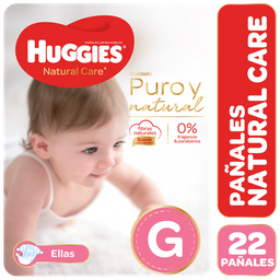 Panal Huggies Natural Care Megapack Nena Gde X 22Unid