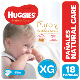 Panal Huggies Natural Care Megapack Nene Xg X 18Unid