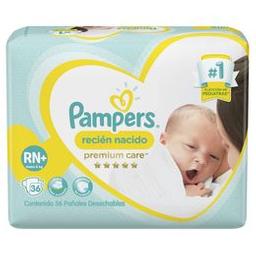 Pampers Recién Nacido Pañales Desechables RN+ 36 Unidades