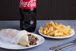 4 shawarma papa + gaseosa 1.5 l