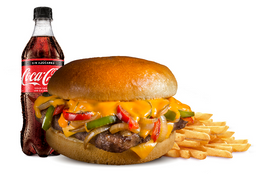 Combo Philly Cheeseburger