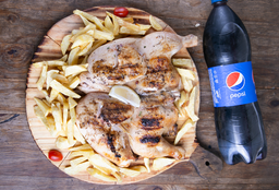 Pollo Entero + Papas Fritas + Bebida