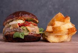 #1. Hamburguesa con Bocconcini & Pesto