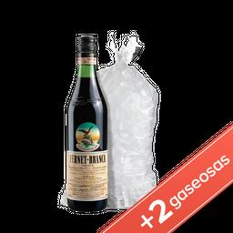 Combo Fernet Branca 750 + 2 Coca Cola 2,25 + Hielo 2,5 Kg