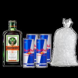 Combo Jagger + 4 Red Bull +  Hielo 2,5 Kg