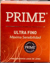 Preservativos Prime Ultra Fino  X 3U