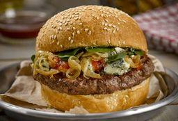 Blue Cheese Burger + Papas Fritas