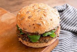 Hamburguesa Veggie de Calabaza, Queso y Semillas