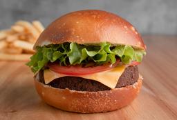 Burger Falafel + Papas