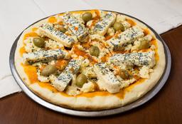 Pizza Muzzarella y Roquefort