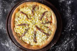 Pizza con Anchoas, Mozza & Huevo