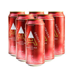 Sixpack Cerveza Andes Roja Lata 473 Ml