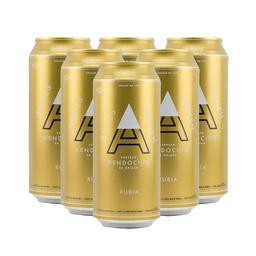 Sixpack Cerveza Andes Rubia  Lata 473 Ml