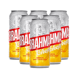 Sixpack Cerveza Brahma Lata 473 Ml