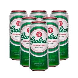 Sixpack Cerveza Grolsch Lata 473Ml
