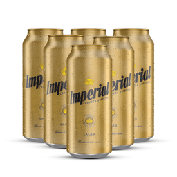 Sixpack Cerveza Imperial Lager Lata 473 Ml