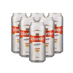 Six Pack Schneider Lata 473ml Cerveza