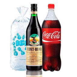 Combo Branca 1L + Coca 1.75 L + Hielo 2 Kg