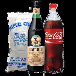 Combo Branca 1L + Coca 1.5 L + Hielo 2 Kg
