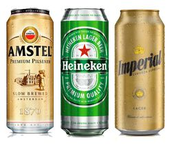 Combo Premium Latas 473Ml (Heineken + Imperial + Amstel)