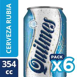 Sixpack Cerveza Quilmes Lata 354mL