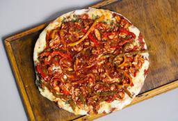 Pizza con Pollo Laqueado