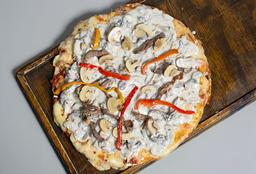 Pizza con Lomo Al Champignon