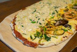 Pizza con Pollo Al Verdeo