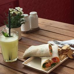 Combo- Wrap del Día + Frutos Secos + Bebida
