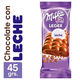 Chocolate Milka Leger Leche 45Grs