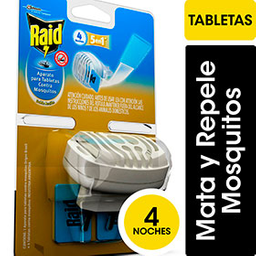 Aparato Tabletas Doble Acción 4 Tabletas Contra Mosquitos