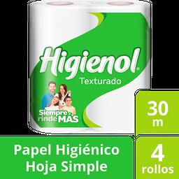 Higienol Papel Higienico Hoja Simple Texturado