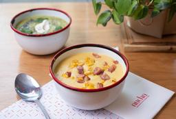 Sopa de Choclo y Panceta