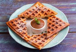 Waffle con Dulce de Leche