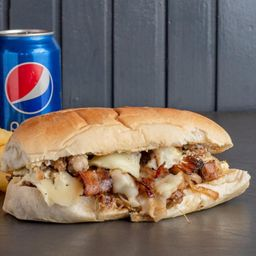 2 Sandwiches de Bondiola Premium + Papas
