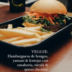 Veggie Burger & Papas